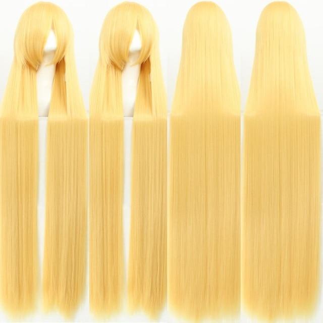 Длинные и толстые синтетические волосы для женщин, 150 см, универсальные термостойкие, аниме, карнавальный парик, для вечеринки