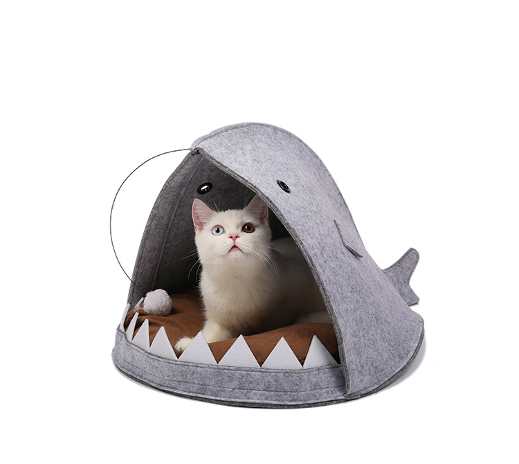 New Style Cat House Shark Shape Dog Beds Warm Soft Cat House Pet Sleeping Bag Cat Kennel Beds For Cat House Nest Mat Pet Product 12
