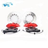KOKO гонки Высокая производительность гонки тормозная система GT6 6pot красный суппорт, дисковые тормоза, шланг, центр шляпа, кронштейн, тормозны