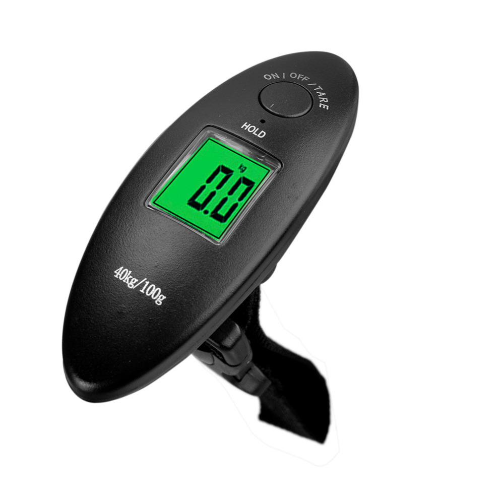 40kg/10g 88Lb Portable Electronic Luggage Scale LCD Display Electronic Travel Scale Hanging Balance Digital Luggage Scale ...