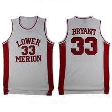 Ediwallen College Lower Merion Jersey High School 33 Kobe Bryant 44 Basketball  Jerseys Hightower Crenshaw Blue 002cc0709