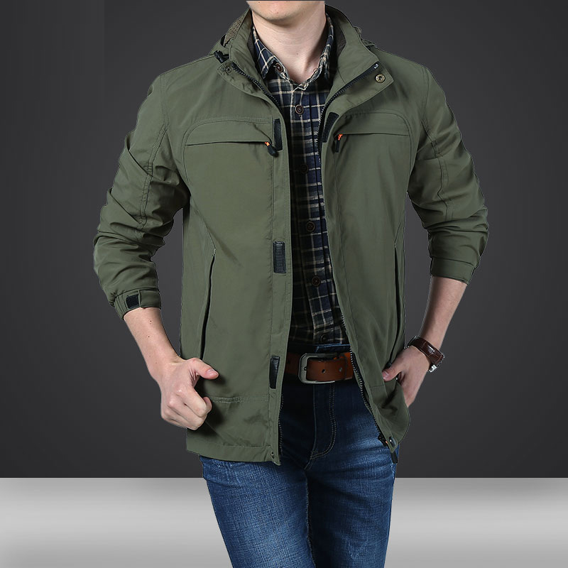 MANLI New Spring Mens Softshell Hiking Jackets Man Coats Tactical Windbreaker Men Waterproof Flight Pilot Coat Hoodie Military