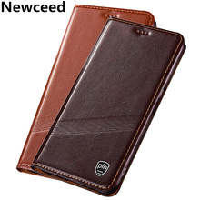 Genuine Leather Flip Case Leather Cover Phone case For Xiaomi Redmi Note 6 Pro/Redmi Note 5 Pro Phone Bag Case Card Slot Holder ostrich pattern genuine leather case card slot holder phone bag for xiaomi redmi note 6 pro redmi note 5 pro flip phone cover