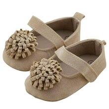 Heißer Verkauf Infant Mädchen Prinzessin Party Schuhe Weiche Untere Schuhe Kleinkind Erste wandererschuhe 0-18 Mt Klassische braun Farbe
