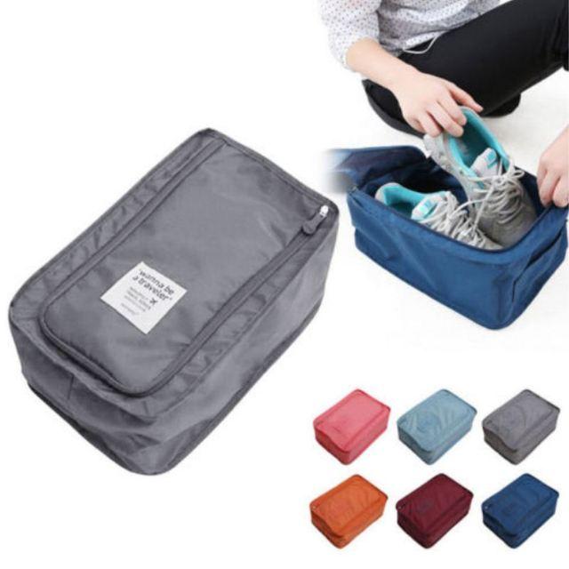 Portátil à prova d' água Em Casa Storag Bagse 6 cores Para Sapatos de Viagem Organizador Tote Bolsa de Nylon Sacos De Viagem De Armazenamento Organizador Casa