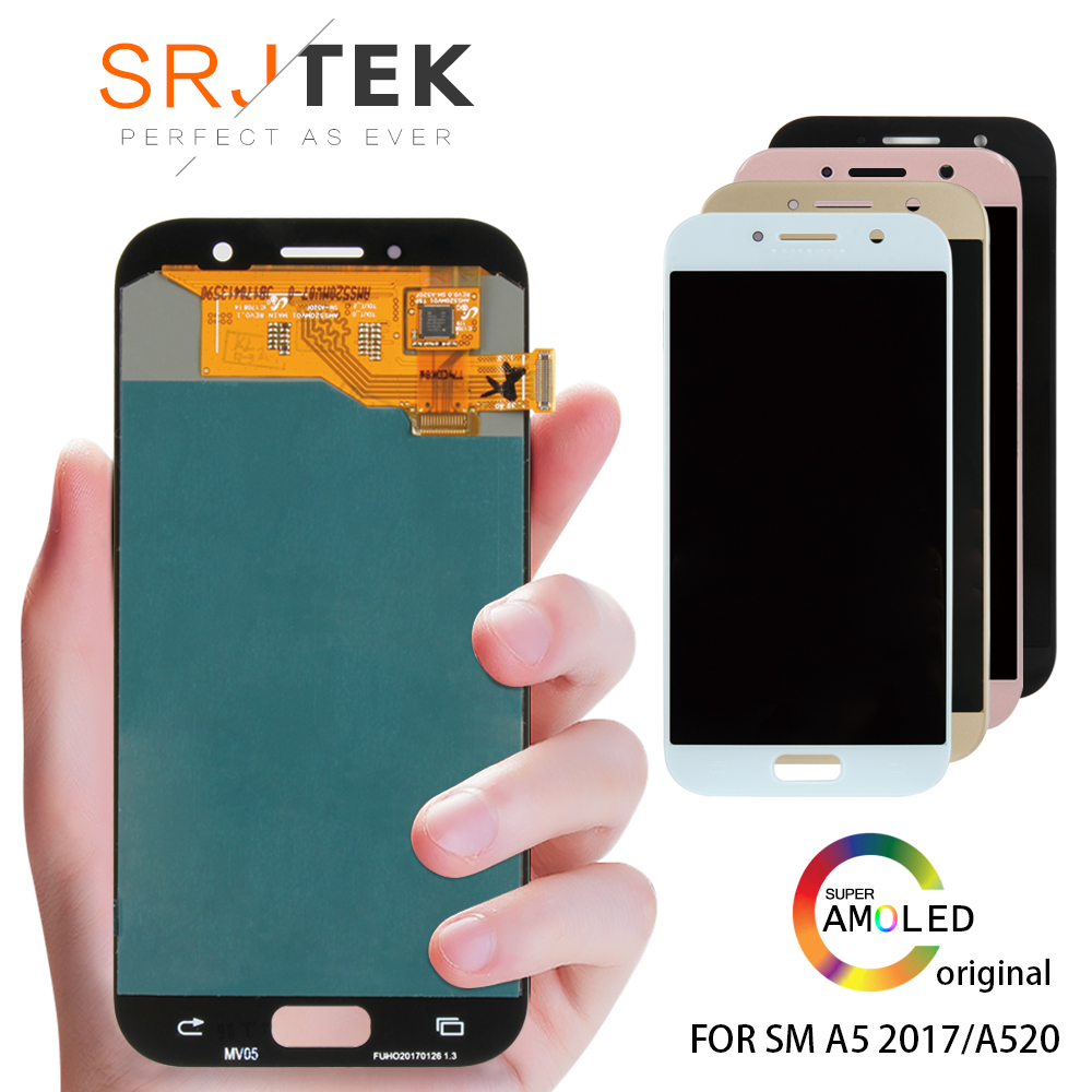 ORIGINAL 5.2 Super AMOLED LCD for SAMSUNG Galaxy A5 2017 Display Touch Screen Digitizer A520 A520F SM-A520F LCD ReplacementORIGINAL 5.2 Super AMOLED LCD for SAMSUNG Galaxy A5 2017 Display Touch Screen Digitizer A520 A520F SM-A520F LCD Replacement