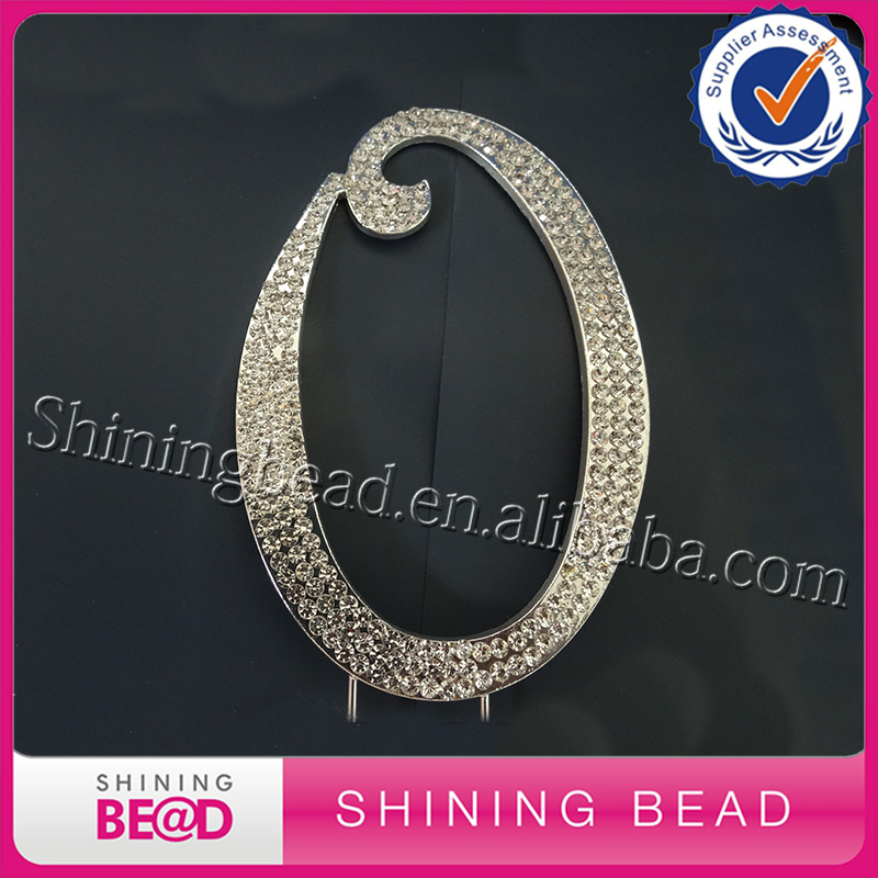 Free Shipping 20 Pcs Rhinestone Crystal Monogram Wedding
