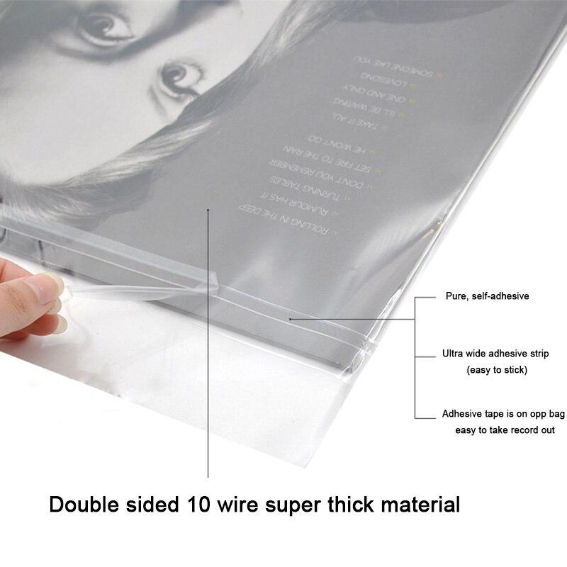 32 Cm 50 Stücke Opp Gel Aufnahme Schutzhülle Selbst Klebe Tasche Schutzhülle Tasche Für Plattenspieler Lp Vinyl Aufzeichnungen Mit Einem LangjäHrigen Ruf Tragbares Audio & Video Leory 12 32,3 Cm