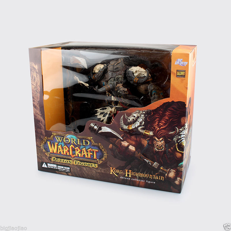 WOW 6 World of War Tauren Hunter Deluxe Action Figure Statue world of wow arthas menethil lich king deluxe action figure statue nib