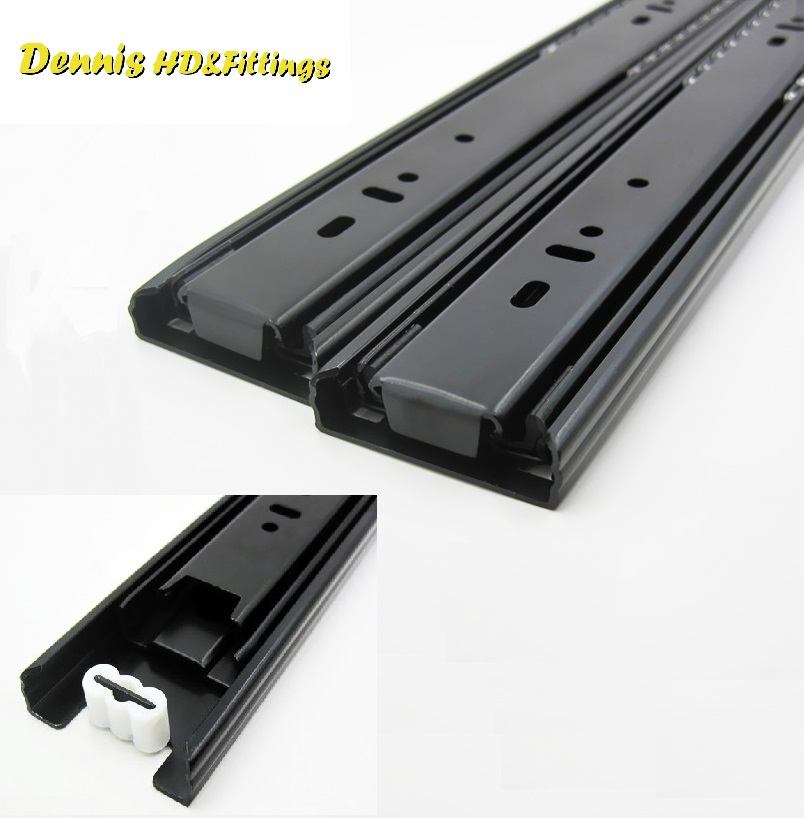 1Pairs/Lot Premintehdw H4512 45KG Heavy ball bearing drawer slide Slides Runner Rail Full Extension 3-fold Furniture probrico 5 pair 14 soft close ball bearing drawer rail heavy duty rear side mount kitchen furniture drawer slide dshh32 14a
