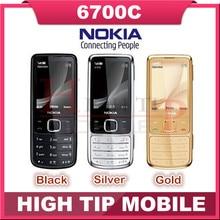Venta caliente Nokia Desbloqueado 6700C Original 6700 Classic Gold 5MP Teléfonos móviles caso de cuero libre Del Teclado Ruso Libre Dropshipping