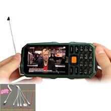 """DBEIF Antenne Analoge TV 3,5 """"handschrift touchscreen taschenlampe energienbank dual-sim-karte FM handy"""