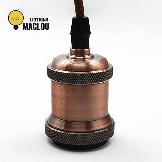 Retro Vintage colgante de luz de salón-comedor AC 110 V 220 V habitación Hanglamp bronce luz titular Chandlier lámpara Industrial decoración