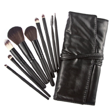 Best Deal Makeup Brush Sets Professional Cosmetics Brushes Eyebrow Eye Brow Powder Lipsticks Shadows Make Up Tool Kit Pouch Bag