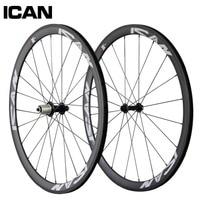 38mm Carbon Clincher Wheelset 700c 21mm Width Bicycle Wheel Powerway Hub Sapim Spokes Road Bike Wheels