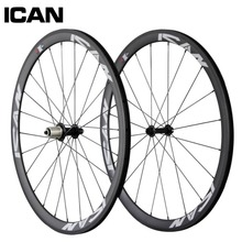 38 mm carbón del remachador wheelset 700c 23 mm ancho bicicleta Powerway hub Sapim radios ruedas de bicicleta de carretera SP-38C