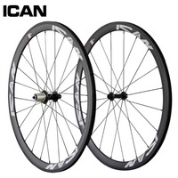 38mm carbon clincher wheelset 700c 23mm width bicycle wheel Powerway hub Sapim spokes road bike wheels SP 38C