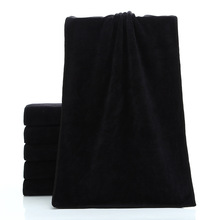 Black Microfiber Fabric Towel Dry Hair Beauty Salons Barber Shop Special Wholesale Super Absorbent Products 75*35cm