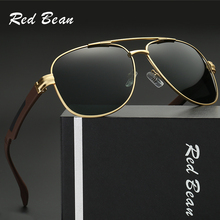 High Quality Driving Glasses Polarized Men Black Gold Metal Frame Luxury Retro Sunglasses Men Vintage Sun Glasses With Box