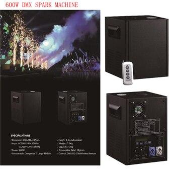 Dj контроллер стенд | 600 Вт сценический DMX холодная искра машина фонтанный фейерверк для свадебной вечеринки вечерние Sparkluar TI порошок 2-5 м без пламени машина DJ Club