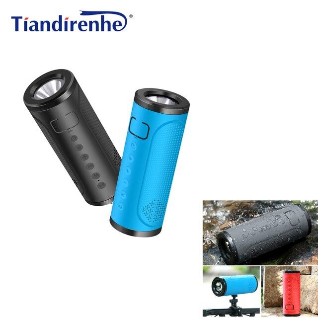 Newest X12 Bicycle Bluetooth v4.2 Speaker Portable FM Radio TF Card Power Bank Bike Cycling Music MP3 LED Flashlight 5000mAh