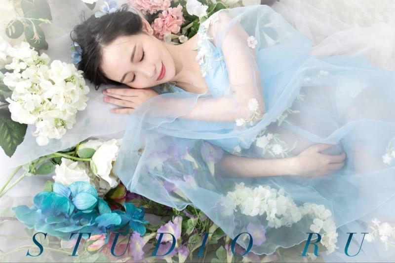 Neue Phantasie Schwangerschaft Foto-Shooting Studio Kleidung Mutterschaft wunderschöne lange Kleid Schwangere Fotografie Requisiten Mutterschaft Kleid Kleid