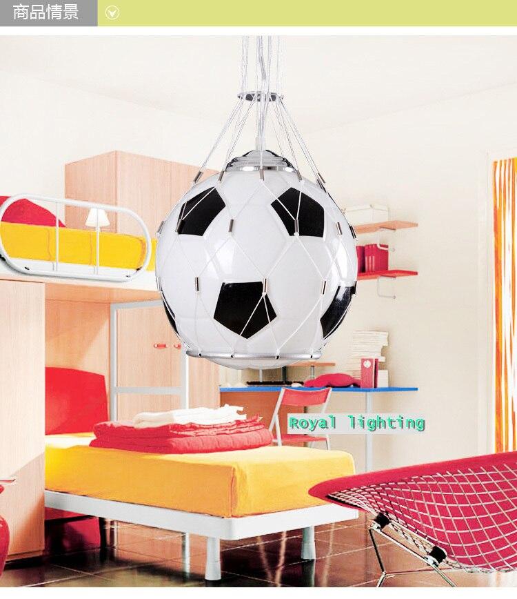 Voetbal kinderkamer glas licht pendnat lampen voetbal kamer kind ...