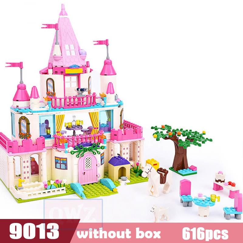 Legoes город девушка друзья большой сад вилла модель строительные блоки кирпич техника Playmobil игрушки для детей Подарки - Цвет: 9013 without box