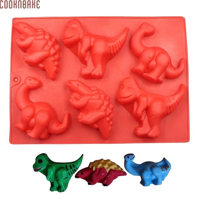 Cooknbake Diy Silikon Kuchen Form 6 Locher Dinosaurier Silikon Gelee