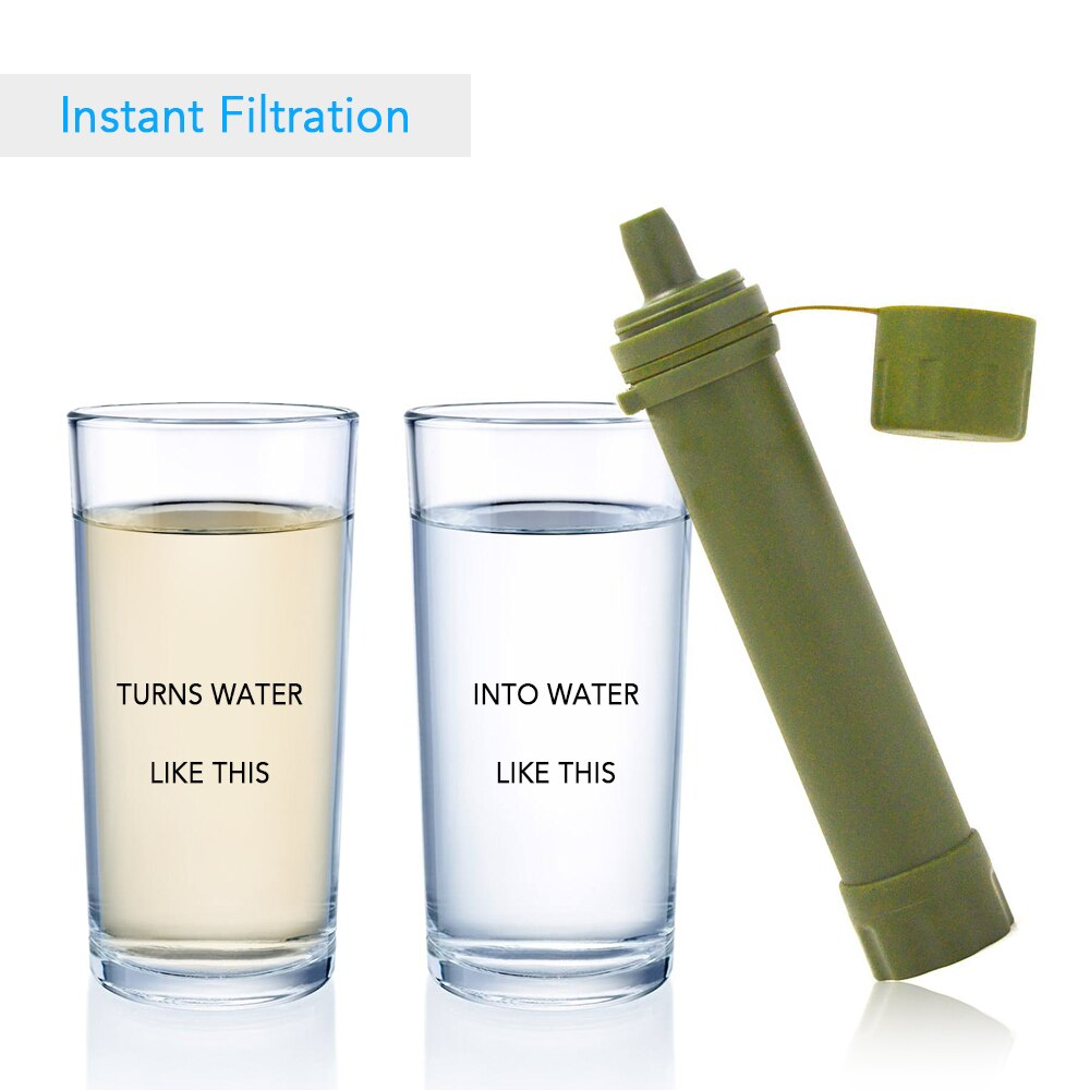 # Water Purifier for Emergency Outdoor Water Filter Straw Water Filtration System Preparedness Camping Traveling Backpacking