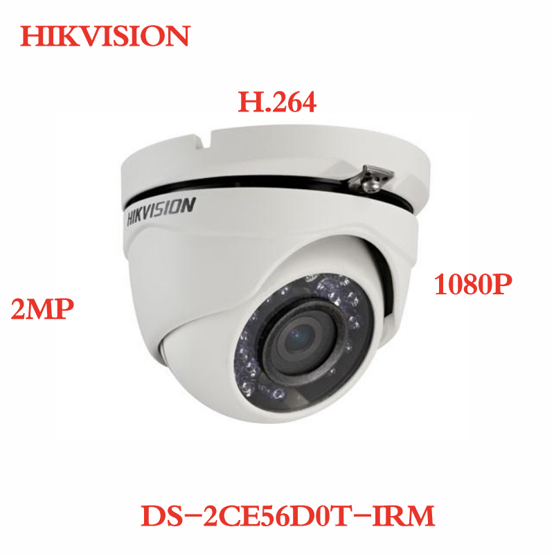 все цены на ANXIE Hikvision DS-2CE56D0T-IRM 2MP HD1080P IR Turret Camera ,Analog HD output, up to 1080P resolution, Up to 20m IR distance онлайн