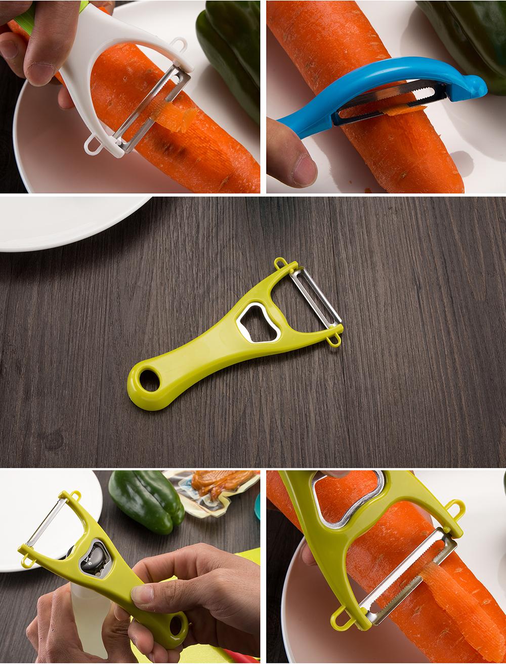 5PCS Vegetable Fruit Peeler Bottle Opener Fruit knife Set Carrot Potato Peeler Melon turnip Slicer Cutter Kitchen Cooking Tools 7
