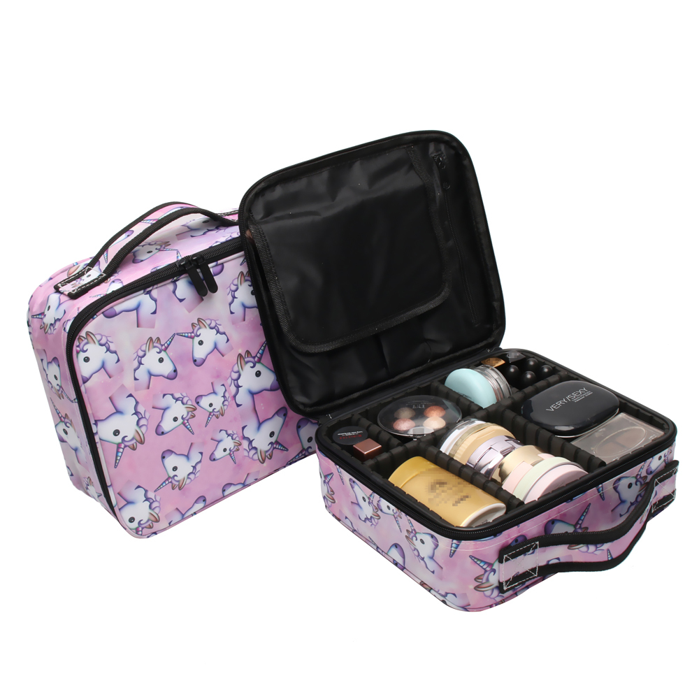 32e991998003 US $14.0 60% OFF|Deanfun Unicorn Makeup Case Multifunctional Cosmetic Bag  Travel Organizer Train Cases with Adjustable Dividers 16001-in Cosmetic  Bags ...