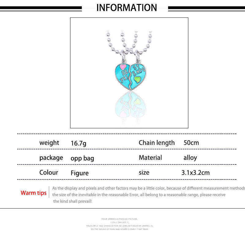 HTB1k82Dd3HqK1RjSZFEq6AGMXXaN - Best Friend Necklace Women Crystal Heart Tai Chi Crown Best Friends Forever Necklaces Pendants Friendship BFF Jewelry Collier