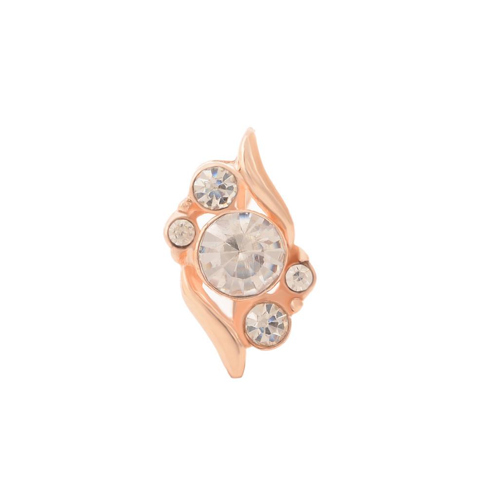 HTB1k82OGVXXXXcyXpXXq6xXFXXXi 3-Pieces Rhinestone Studded Rose Gold Women Jewelry Gift Set