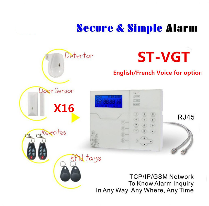 Best Selling Alarm Ethernet TCP IP Alarm GSM GPRS Alarm System Home Security Protection with 32 wireless Zone And 8 Wired Zone bulk order price best ethernet alarm wireless tcp ip alarm gsm alarm system for smart home security protection alarm with app