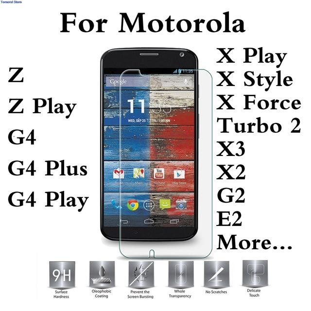 US $1 72  For Motorola Moto G4 Play Plus Z Force X Style Play Force G3 G2  Screen Protector No Bubble Tempered Glass Life Warranty-in Phone Screen