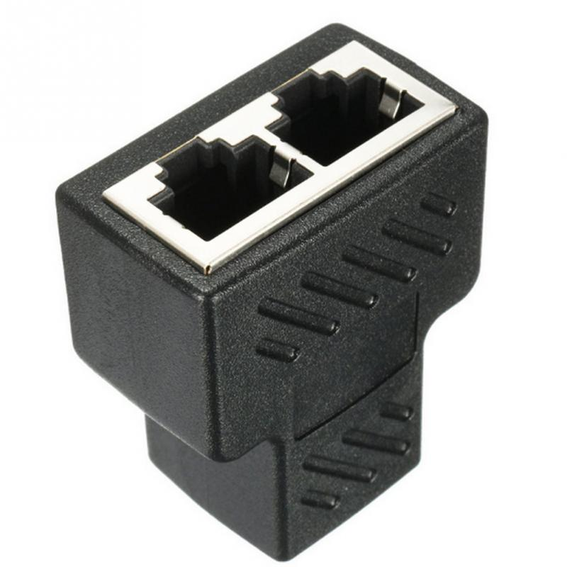 1 To 2 LAN RJ45 Connector Network Cable Splitter Extender Plug Adapter Connector