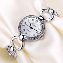 LVPAI Bracelet Watch Women Clock Luxury Crystal Diamond Lady Wrist Watches Women Roman Numerals Quartz Watch Montre Reloj HK&50