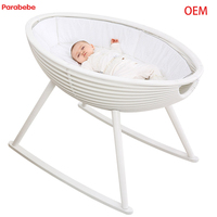 Gorgeous Baby Crib Pine Baby Cradle Kids Infant Rocking Bed Children Cot Made In China Manufacturer OEM Supplier
