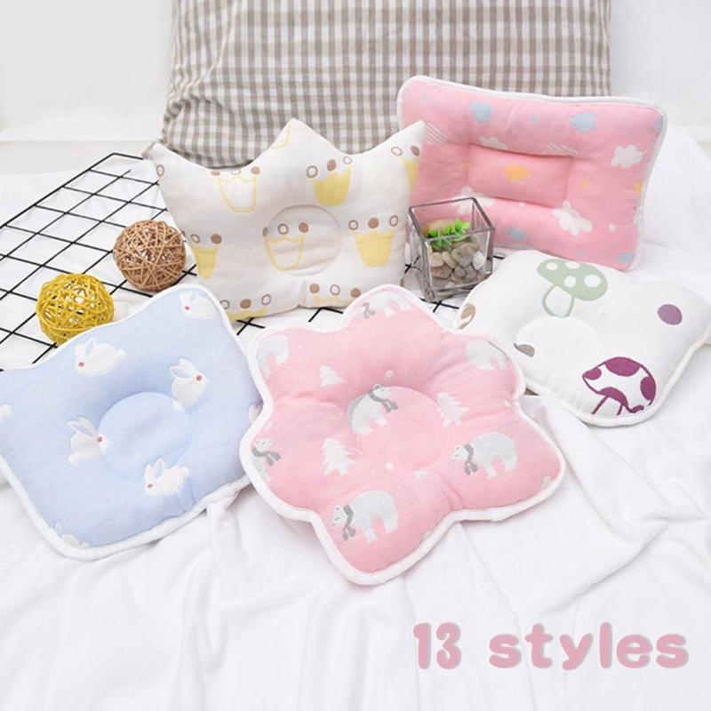 Baby Forming Pillow Cotton Pillow Prevent Flat Head Baby flower Crown Shape Pillow Newborn Sleeping Bedding decorate Cushion R2