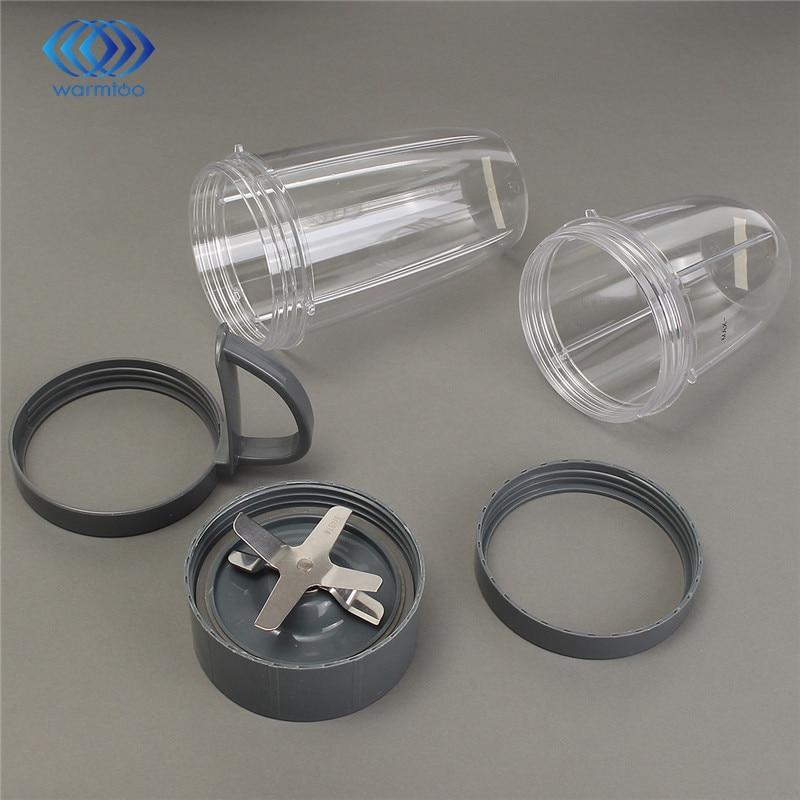 Cinza Transparente Copo de plástico + Lâmina de Substituição Set Para NutriBullet Fácil de Limpar Máquina de Lavar Louça Qualidade Durável