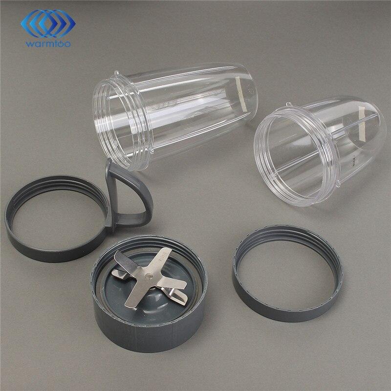 Plastica Grigio Tazza Trasparente + Lama di Ricambio Set Per NutriBullet Facile Pulizia Lavastoviglie Sicuro Durevole Qualità