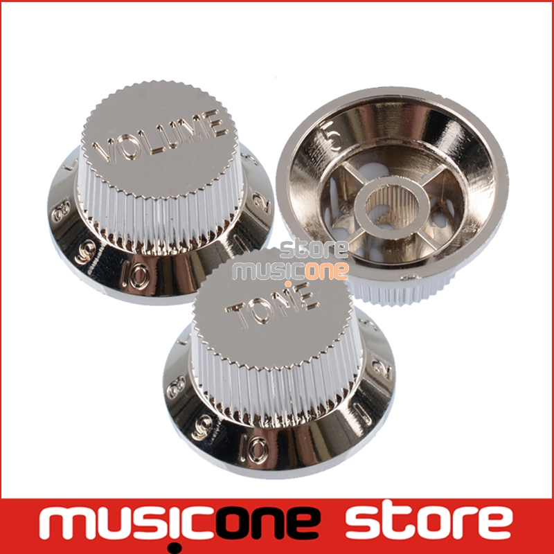 3 pcs silver electric guitar bass speed control knobs volume and tone knob guitar parts in. Black Bedroom Furniture Sets. Home Design Ideas