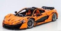 В наличии Лепин 20087 метод в MOC 16915 P1 оранжевый Супер гоночный автомобиль McLareninglys строительные блоки Hypercar комплект Детские игрушки