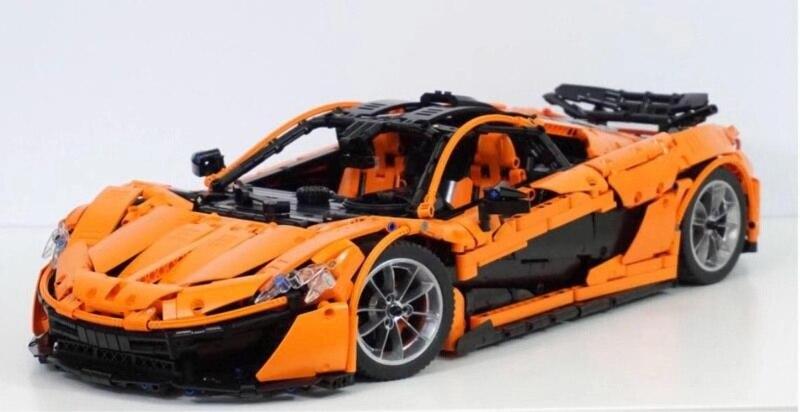 In Magazzino Lepin 20087 Technic il MOC-16915 P1 Arancione Super Auto Da Corsa McLareninglys Blocchi di Costruzione Hypercar Set Giocattoli Per Bambini