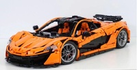 In Stock Lepin 20087 Technic the MOC 16915 P1 Orange Super Racing Car McLareninglys Building Blocks Hypercar Set Children Toys
