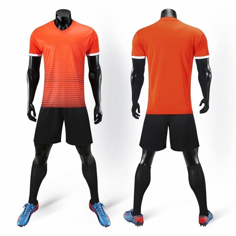 Impressão personalizada camisa de futebol masculino adulto meninos esportes treinamento jogo camisas de futebol correndo manga curta esportiva