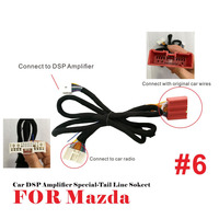 Car DSP Amplifier wiring harness cable socket tail Line for Mazda 2/3/5/6/8/CX7 New CX4