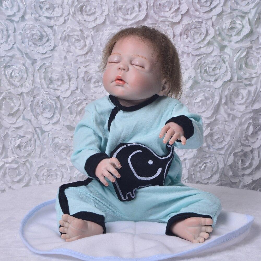 Lifelike 23 Newborn Doll Can Bathe Full Silicone Vinyl Reborn Dolls Baby Christmas Birthday Gifts for children handmade toysLifelike 23 Newborn Doll Can Bathe Full Silicone Vinyl Reborn Dolls Baby Christmas Birthday Gifts for children handmade toys